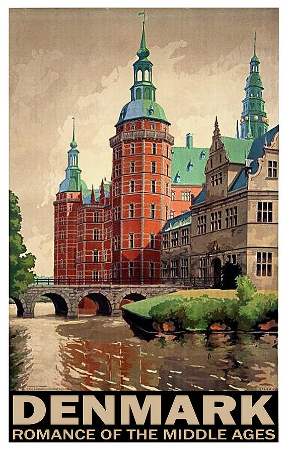 Denmark Painting - Denmark, Castle, Romance Of The Middle Ages Poster by Long Shot