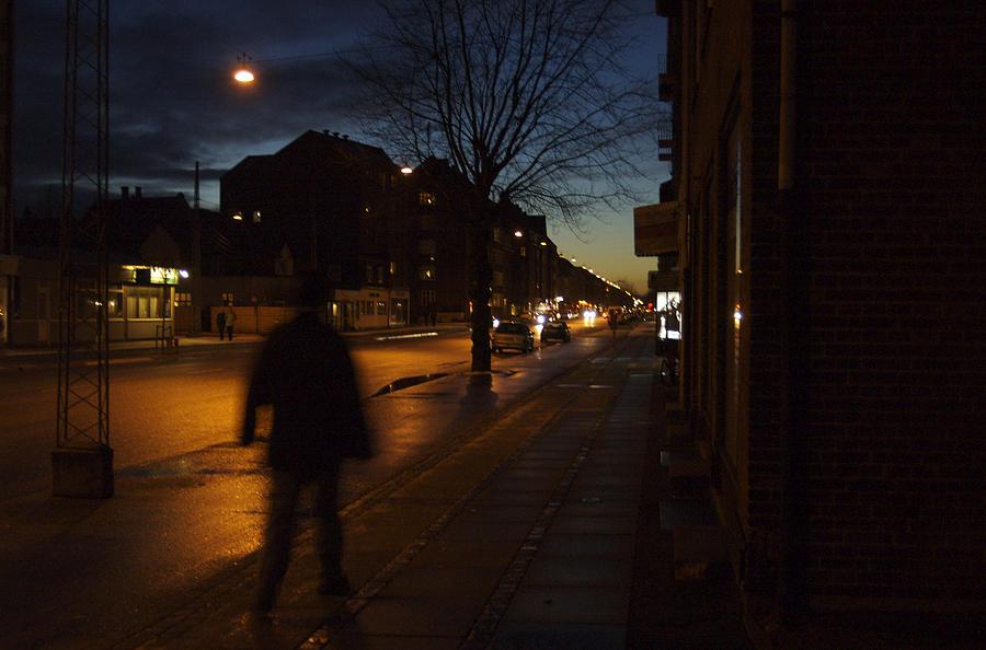 Nobody Photograph - Denmark, Copenhagen, Man Walking by Keenpress