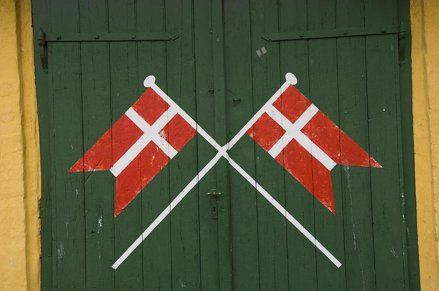 Nobody Photograph - Denmark, Dannebrog, Danish Flag by Keenpress