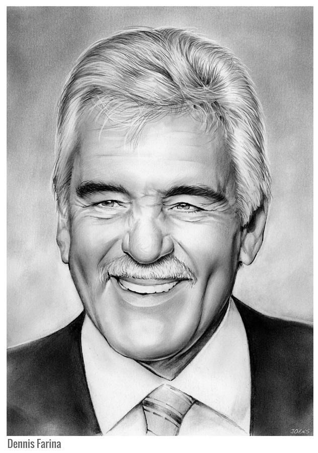 Dennis Farina Drawing - Dennis Farina by Greg Joens