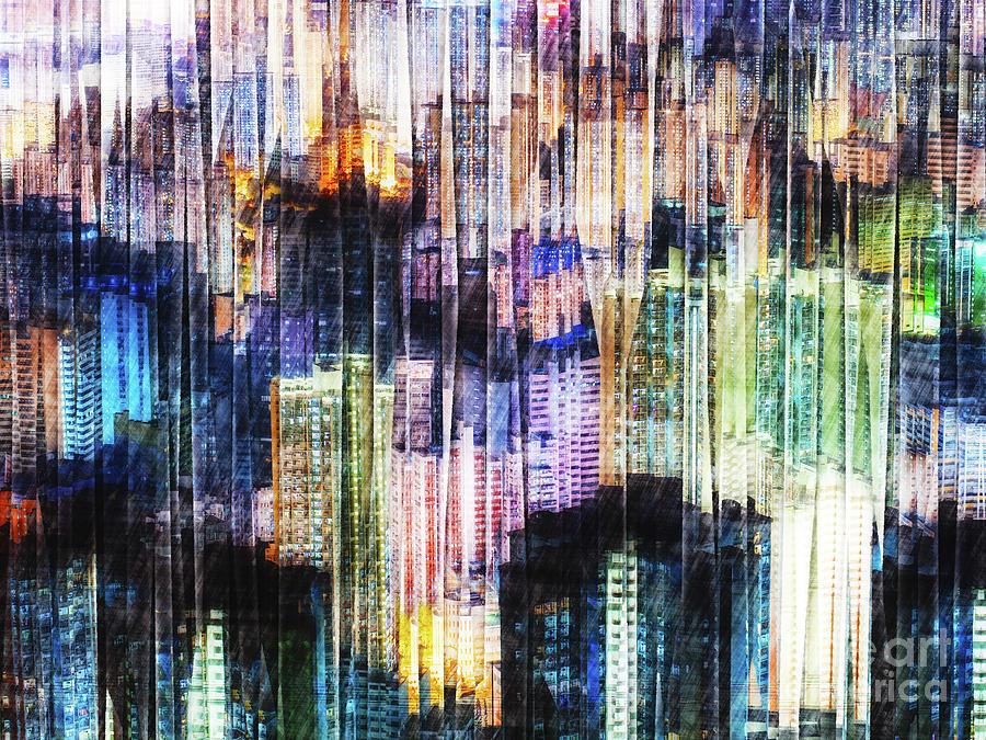 Buildings Digital Art - Dense Urban Structures by Phil Perkins