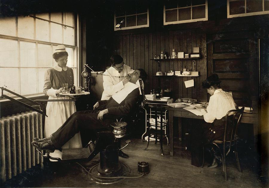 1910s Photograph - Dental Work In A Hospital, Cambridge by Everett