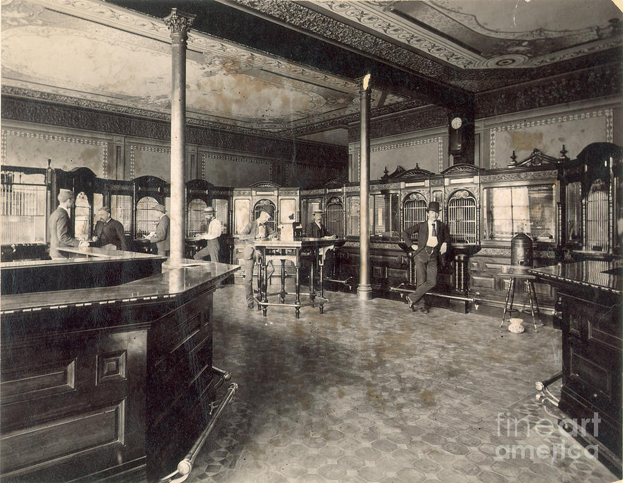 1890 Photograph - Denver Bank, C1890 by Granger