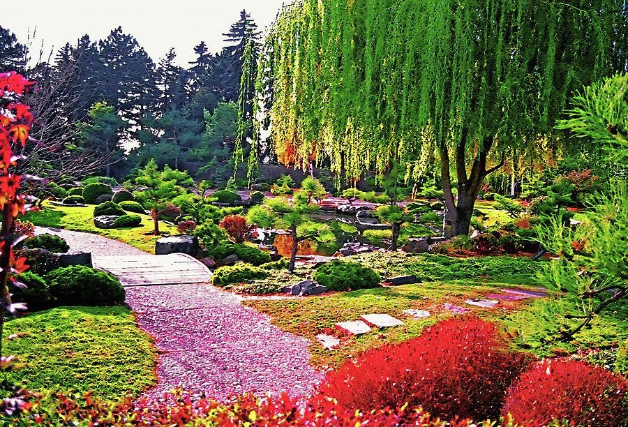 Watercolor Photograph - Denver Botanical Gardens 1 by Steve Ohlsen