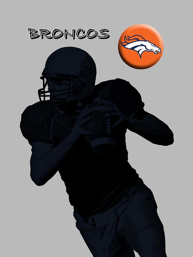 Denver Broncos Football Digital Art by David Dehner