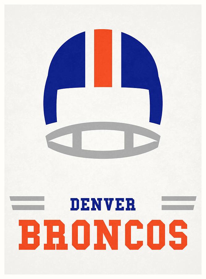 Denver Broncos Vintage Nfl Art Mixed Media by Joe Hamilton
