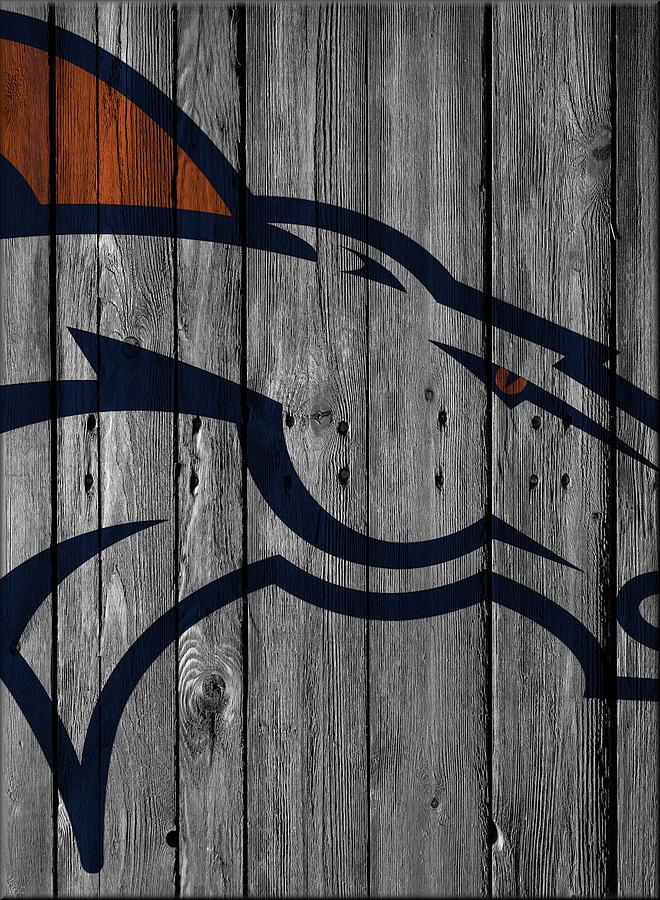 Denver Broncos Photograph - Denver Broncos Wood Fence by Joe Hamilton