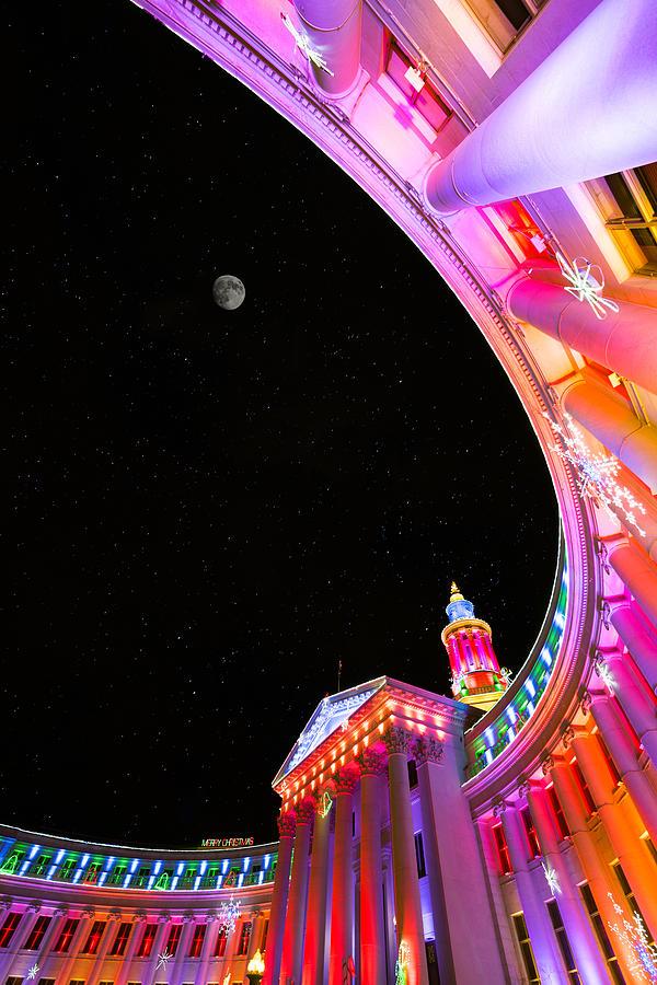 Denver City Building Christmas Photograph