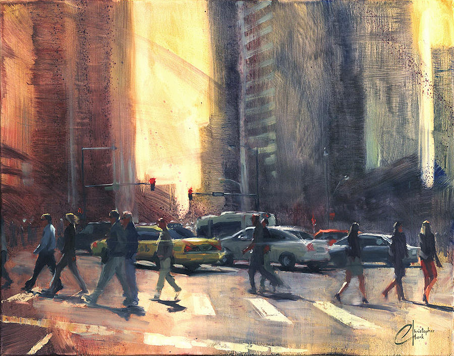 Christopher Painting - Denver Colorado Broadway And 17th Ave by Christopher Clark