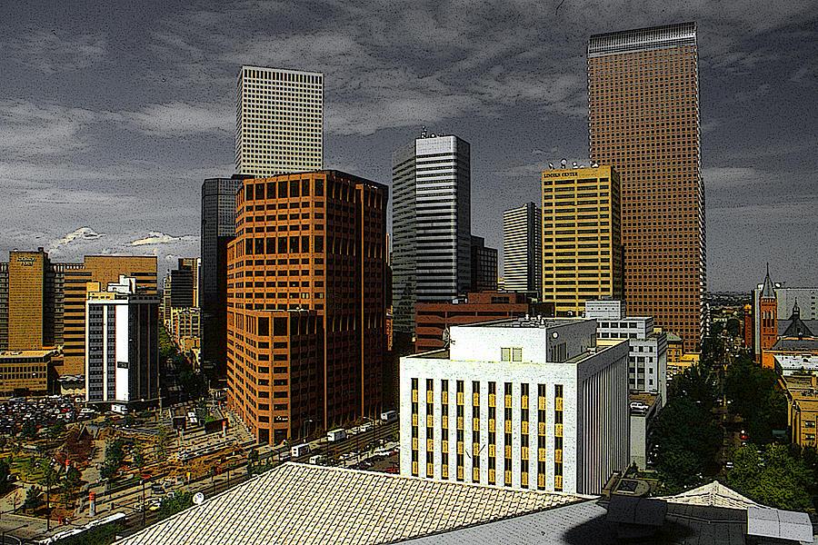 Denver Colorado Downtown Skyline by Peter Potter
