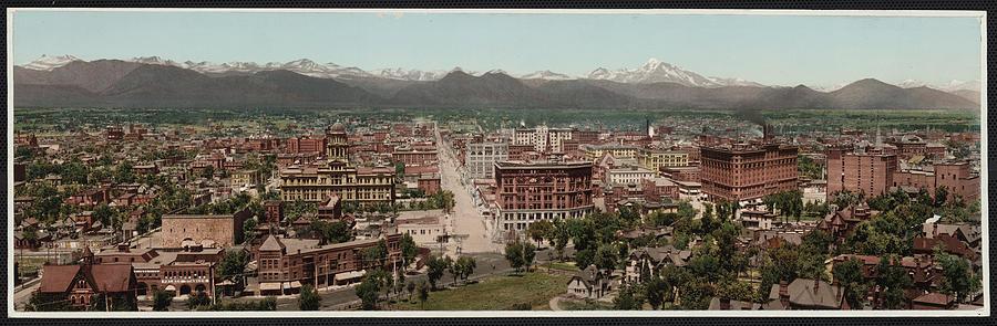 1890s Photograph - Denver, Colorado, Photochrom By William by Everett