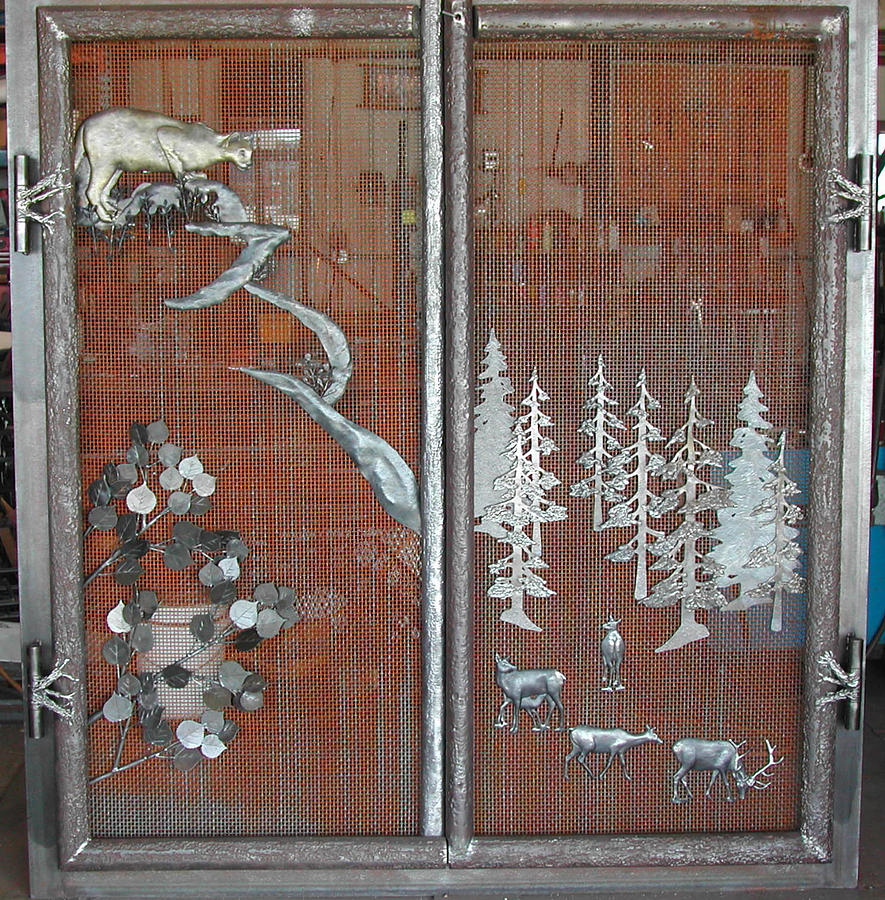 Denver Fireplace Door Sculpture By Kirk Sullens