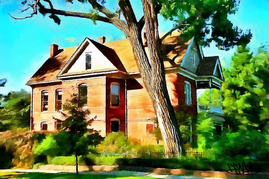Dynamic Auto Painter Photograph - The Denver House by Mark Ashley