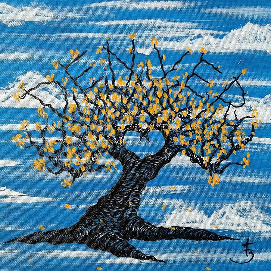 Denver Drawing - Denver Love Tree by Aaron Bombalicki
