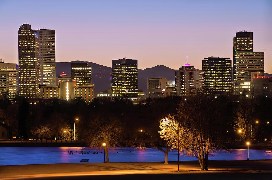 Denver Photograph - Denver Skyline - City Park View by Gregory Ballos