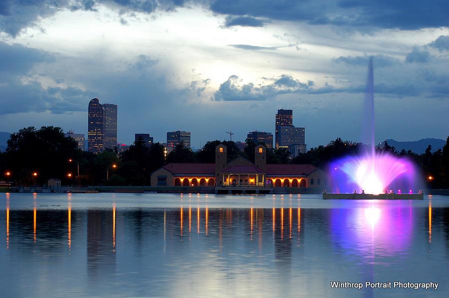 Denver Photograph - Denver Skyline by Michael Becker
