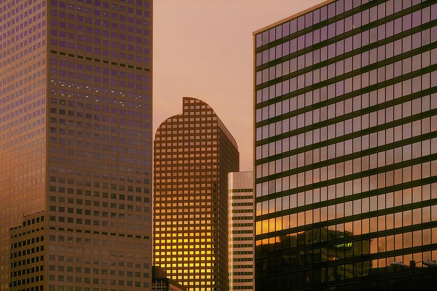 Denver Photograph - Denver Skyline Of Glass by Steve Mohlenkamp