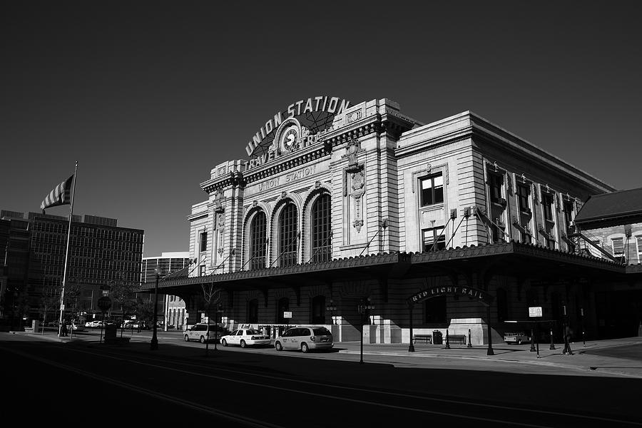 Denver - Union Station BW by Frank Romeo