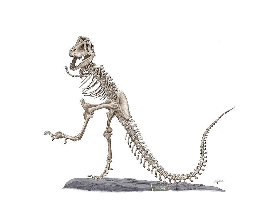 Denvers Dancing T Rex by Rick Adleman