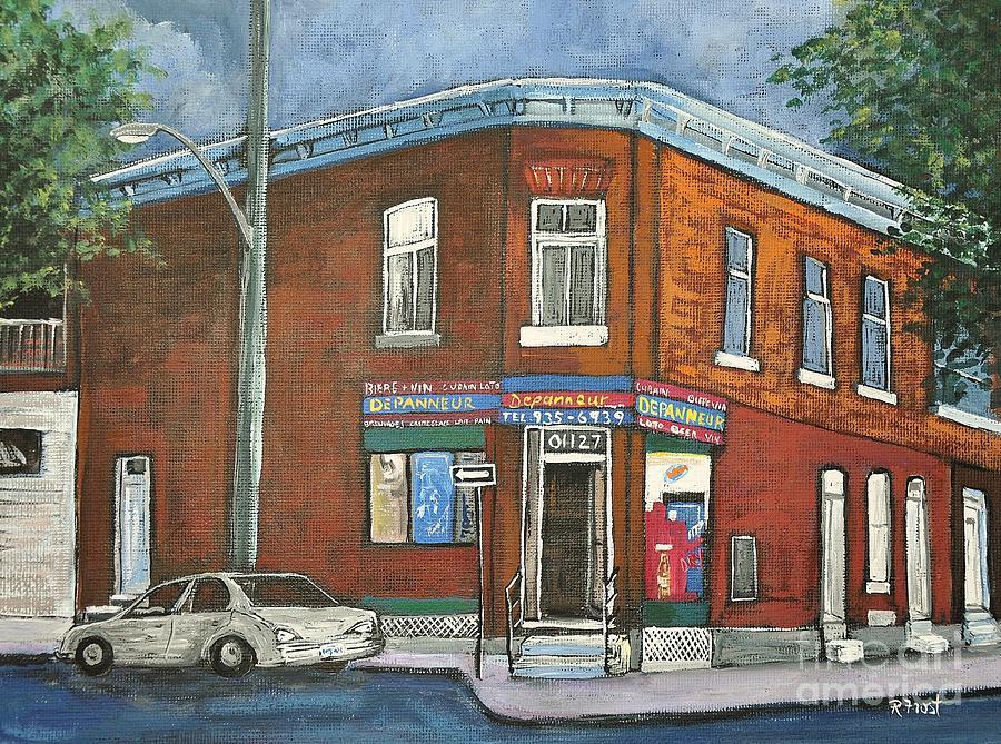 Montreal Painting - Depanneur Surplus De Pain Rue Charlevoix by Reb Frost