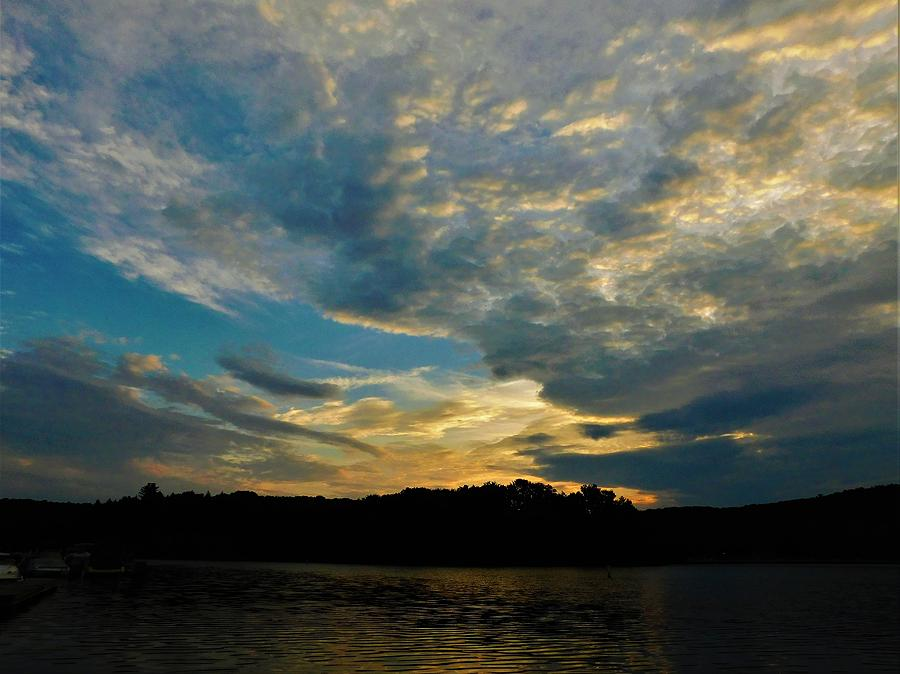 Sunrise Photograph - Departing Clouds by Jerry ORourke