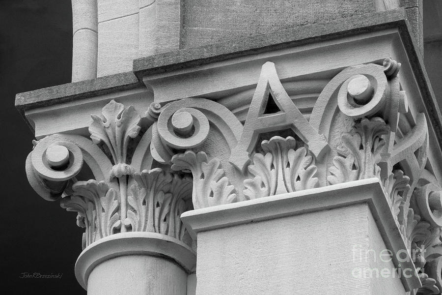 Depauw University Photograph - Depauw University East College Detail by University Icons