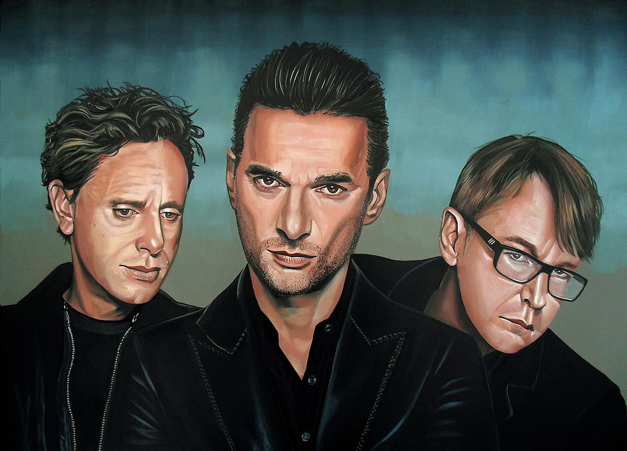 Depeche Mode Painting - Depeche Mode Painting by Paul Meijering