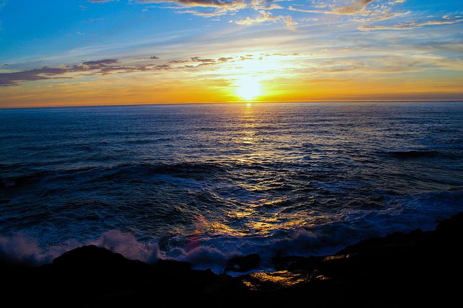 Depoe Bay Sunset Photograph by Kevin Mcenerney