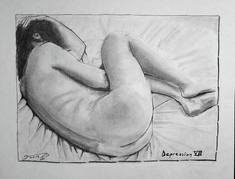 Depression Vii Drawing By Jose A Gonzalez Jr