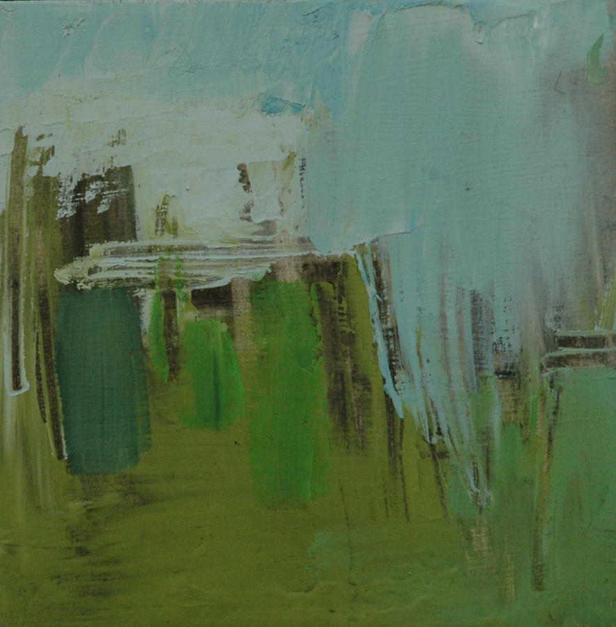 Abstract Painting - Depth Exchange by Liz Maxfield