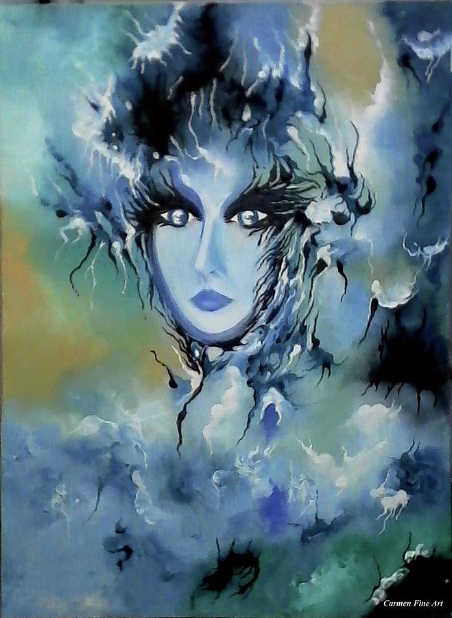 Blue Painting - Depth in Venus  by Carmen Fine Art