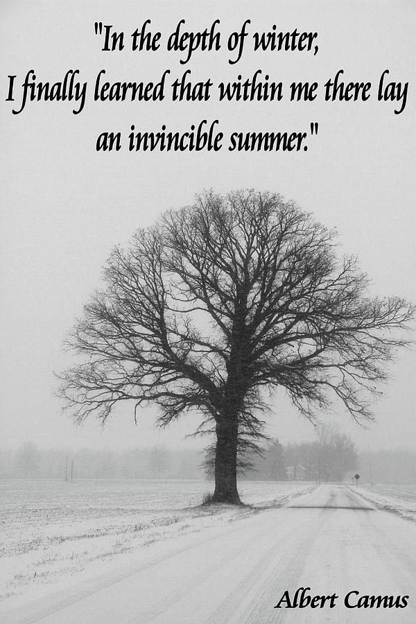 Invincible Summer Mixed Media - Depth Of Winter Quote by Dan Sproul
