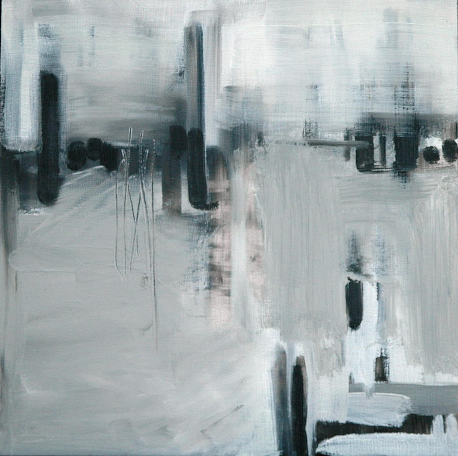 Abstract Painting - Depth Sounder by Liz Maxfield