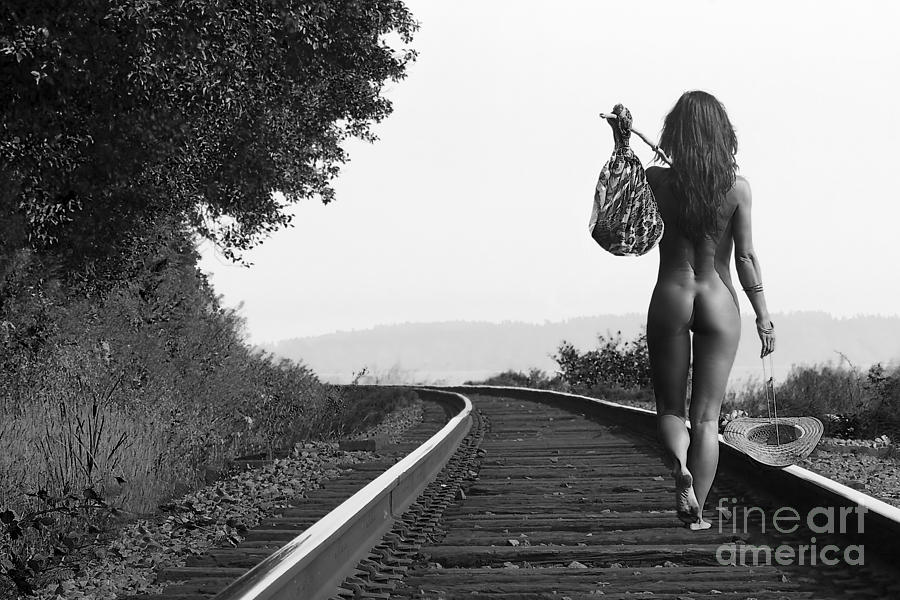Artistic Nude With Train 54