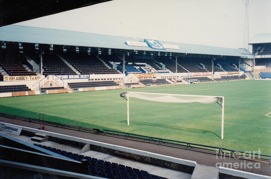 Derby County The Baseball Ground West Stand 2 August 1990 Photograph By Legendary Football Grounds