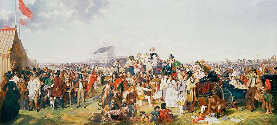 Derby Painting - Derby Day by William Powell Frith