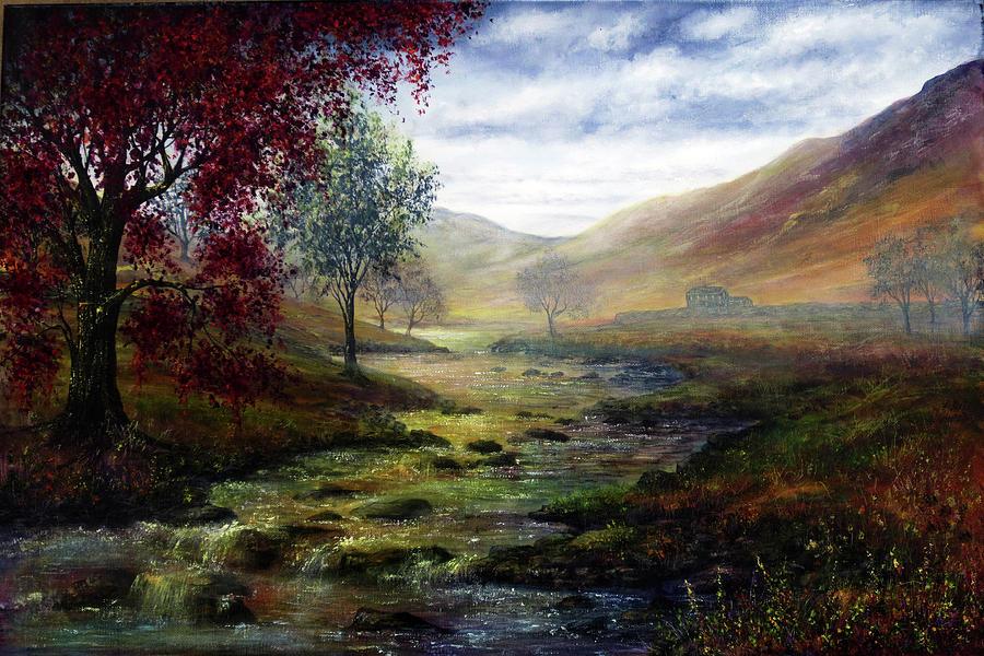 Derbyshire Painting - Derbyshire Secret by Ann Marie Bone