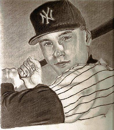 Derek   Jeter Drawing by Miguel          A Rivera