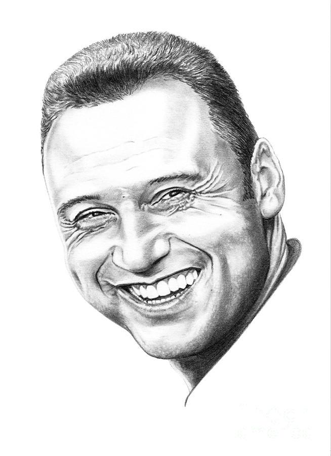 Portrait Drawing - Derek Jeter by Murphy Elliott