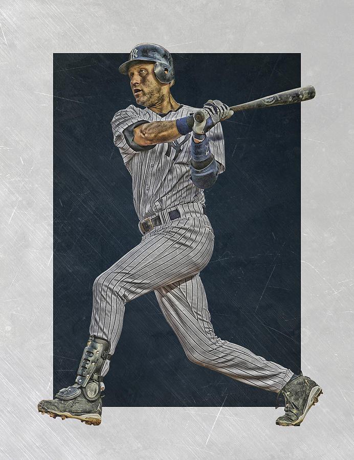 Derek Jeter Mixed Media - Derek Jeter New York Yankees Art 2 by Joe Hamilton
