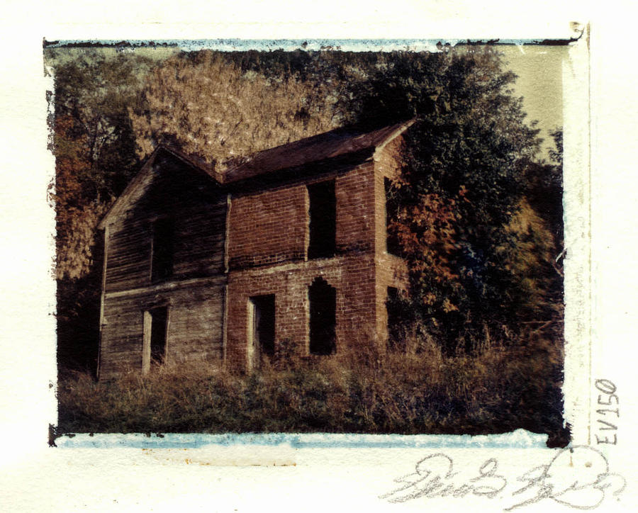 Polaroid Photograph - Derelict Farm House - Waynesburg by Steven  Godfrey