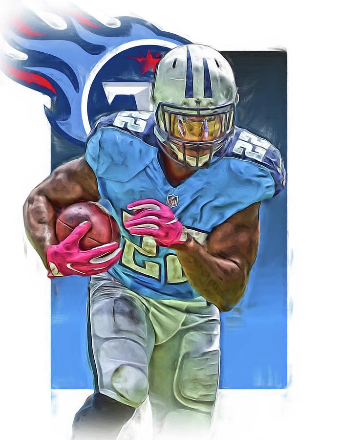 Tennessee Titans Jersey Number 22 Oil