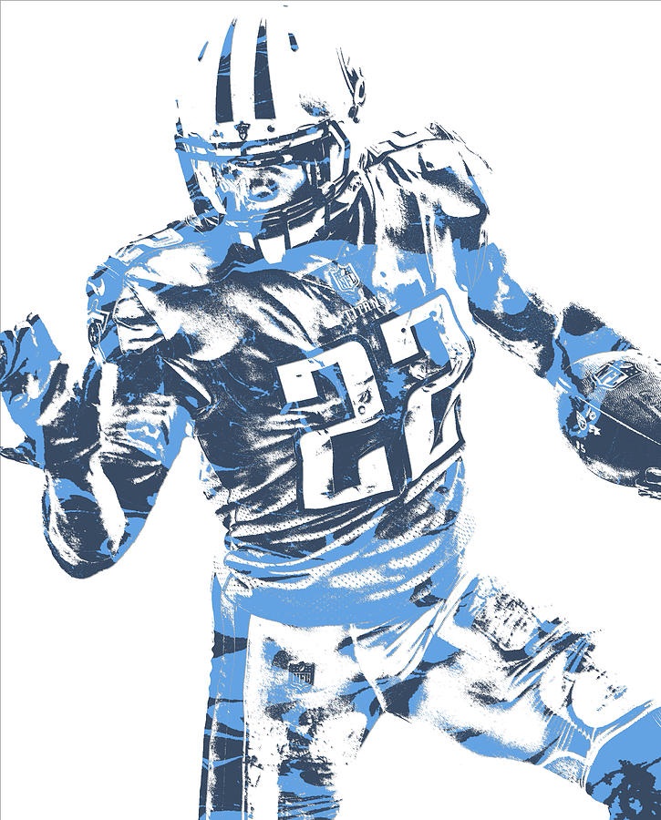 437c85e2 Derrick Henry Tennessee Titans Pixel Art 11 by Joe Hamilton