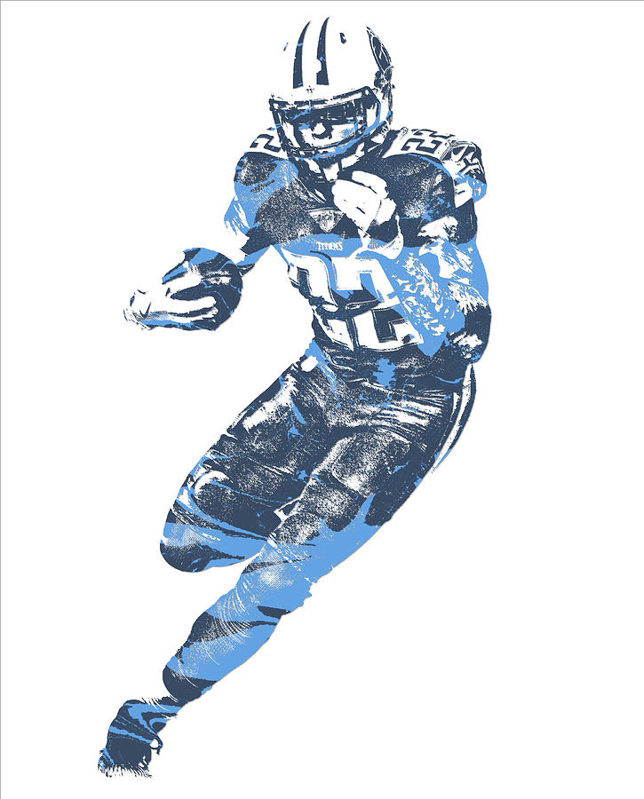 be833507 Derrick Henry Tennessee Titans Pixel Art 13 by Joe Hamilton