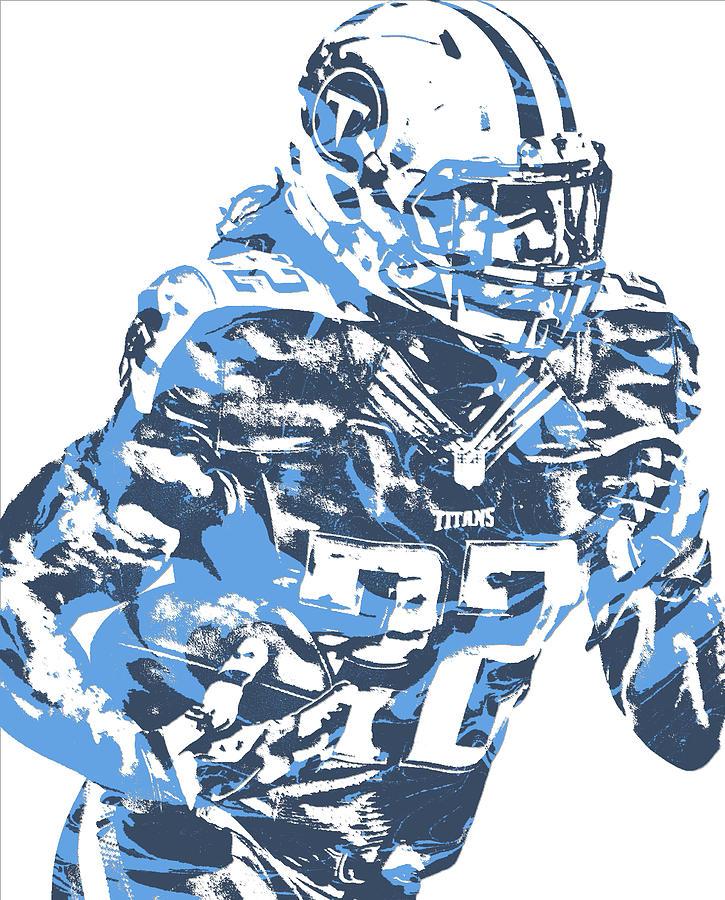 f432638b Derrick Henry Tennessee Titans Pixel Art 14 by Joe Hamilton