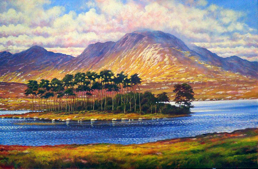 Landscape Painting - Derryclare,connemara,ireland by Alan Kenny