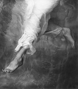 Angel Photograph - Descending Angel by John Wimberley