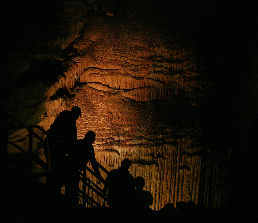 Mammoth Cave National Park Photograph - Descending Frozen Niagara by Brian M Lumley