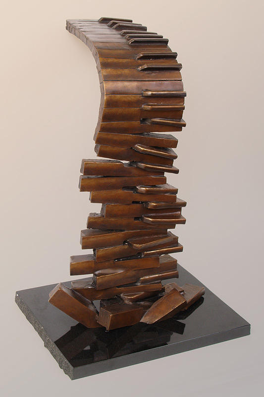 Piano Sculpture - Descending Scales by Bill Marshall