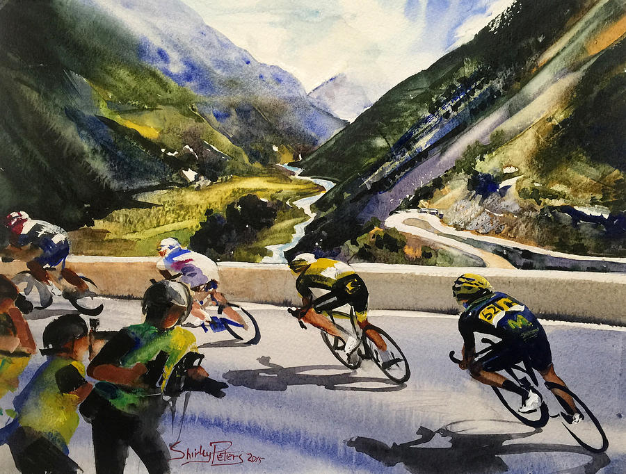 Tour Painting - Descending The Alps by Shirley Peters